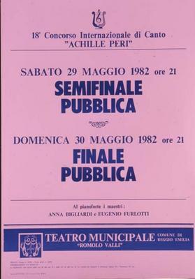18° Concorso internazionale di canto Achille Peri