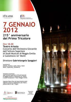 7 Gennaio 2012. 215° anniversario del Primo Tricolore