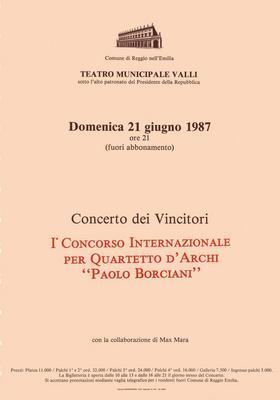1° Concorso Internazionale per Quartetto d'archi Paolo Borciani